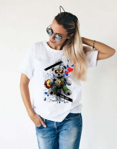 T-sshirt-femme-ours-polaire