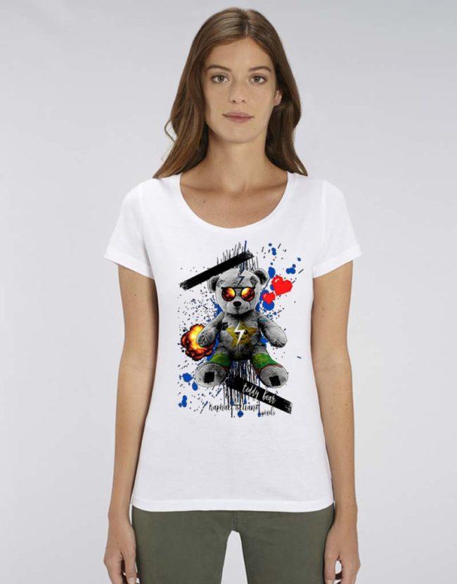 T-shirt femme, T-shirt Nounours Personnalisé, T-shirt Raphael Setiano, T-shirt Doudou Femme.