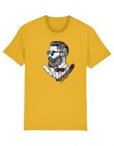 T-shirt hipster Francais Prosper.100% Coton Bio