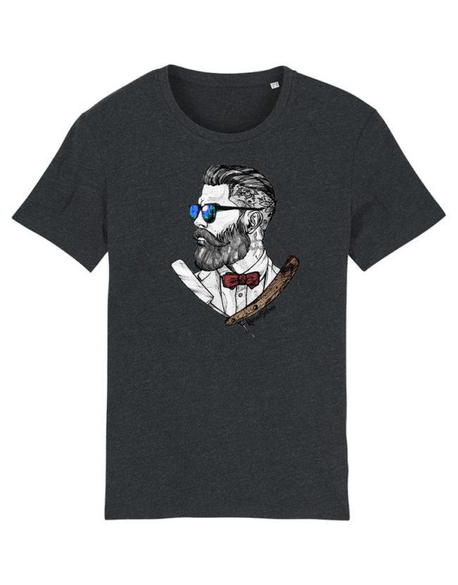 T-Shirt Hipster Barbu etTatoué, T-shirt Original, T-shirt Homme.