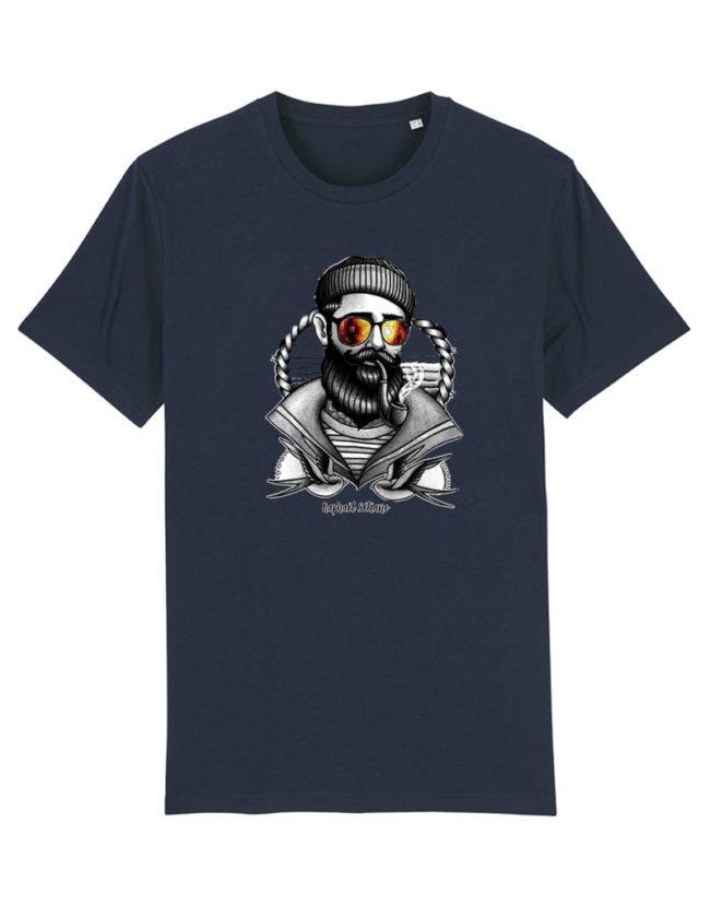 T-shirt Hipster Marin bleu marine