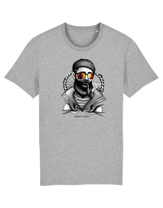 T-shirt hipster gris chiné