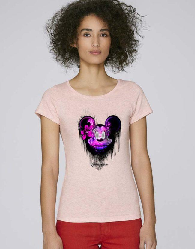 Tee-Shirt Mickey Femme pas Cher, T-Shirt Disney Femme, T-Shirt Raphael Setiano.