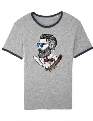 Tee shirt Hipster Barbu et Fier, T-shirt Hipster Barbu, T-shirt Homme