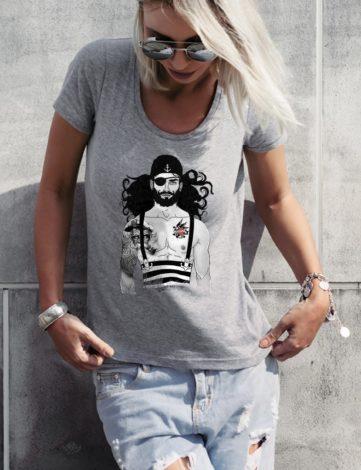 Tee-Shirt Femme Pirate des Caraïbes, T-Shirt Pirate des Caraïbes Disney, T-shirt Stylé.
