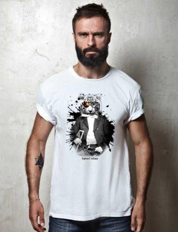 Tee Shirts Tigre Homme, T-Shirt Créateur Original, T-Shirt Raphael Setiano,