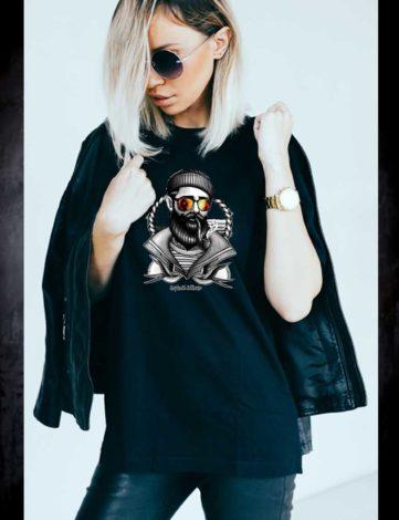T-Shirt Femme Hipster Marin, T-shirt Raphael Setiano, T-shirt Unisexe Hipster.