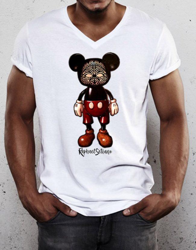 T-Shirt Homme Col V, Tee Shirt Raphael Setiano,