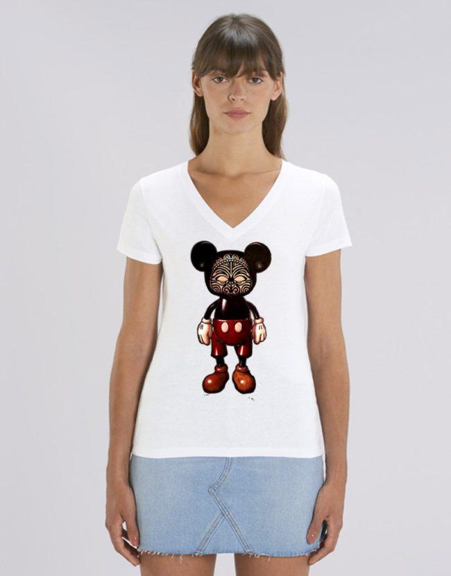 Tee Shirt Femme Tatoué, T-Shirt effet Tatouage, T-Shirt Tatouage Tribal.