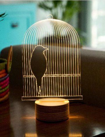 Luminaire plexiglas 3D
