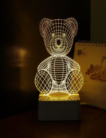 Lampe pexyglass 3D Lampe 2d effet 3d