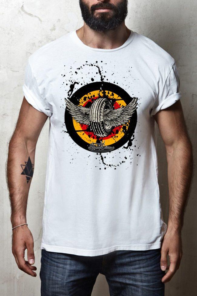 Tee shirt Homme biker, T-shirt moto Homme Vintage, Tee shirt Motar, style biker homme
