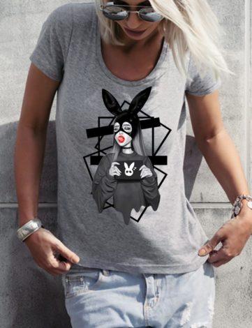 Tee Shirt Femme Ariana Grande, T-Shirt FemmePas Cher, T-Shirt Créateur.