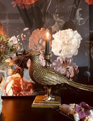Bougeoir Décoratif Faisan, Decoration Raphael Setiano