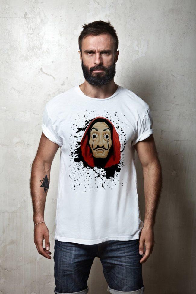 tee Shirt Homme Masque la Casa de Papel