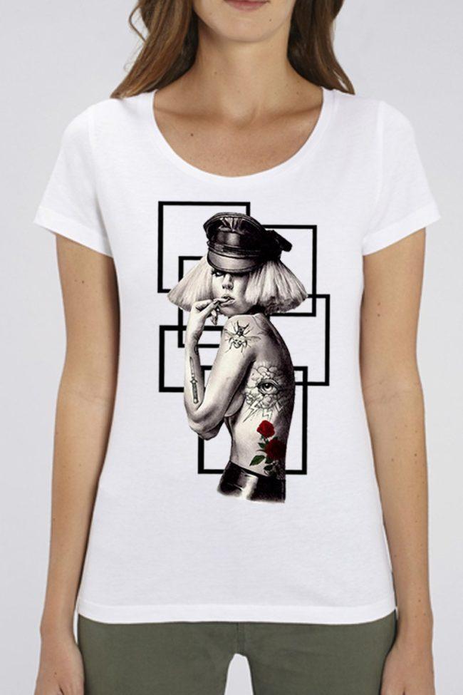 Tee Shirt Femme Lady Gaga, Tee Shirt Femme Imprimé